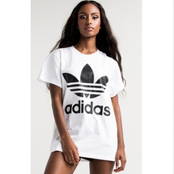c7c272f381e adidas Tops | Originals Big Trefoil Tee White Black | Poshmark